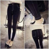 Jeans Youth fashion 004 S M L XL black trousers Travel? High waist