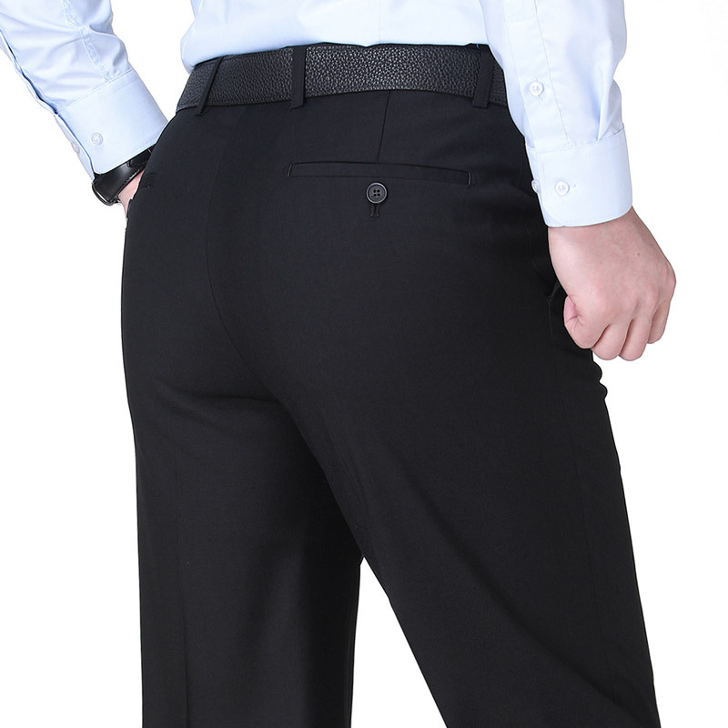 Western-style trousers New hudu celebrities Youth fashion Black, Navy 29 (2.23 feet), 30 (2.3 feet), 31 (2.4 feet), 32 (2.5 feet), 33 (2.6 feet), 34 (2.7 feet), 36 (2.8 feet), 38 (2 feet 9), 40 (3 feet), 42 (3 feet 1), 44 (3 feet 2), 45 (3 feet 3), 46 (3 feet 4) trousers Straight cylinder