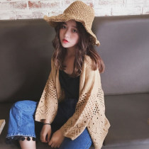 sweater Spring of 2018 Average size Black Khaki Long sleeves Cardigan singleton  Regular other 30% and below other Regular commute routine Solid color 18-24 years old Hollowing out