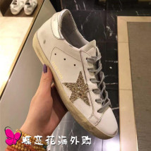 Low top shoes Shallow mouth Silver-tailed grey star, gold-tailed pink star, brown star, black-tailed grey star, silver-tailed grey star, silver-tailed silver star, Venus pink-tailed grey star, rosy pink-tailed grey star GOLDEN GOOSE 35 36 37 38 39 40 41 42 43 44 Round head The first layer of leather
