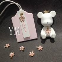 Line Alloy / silver / gold 0.01-0.99 yuan Romantic pearl cherry blossom (1 pendant) YM