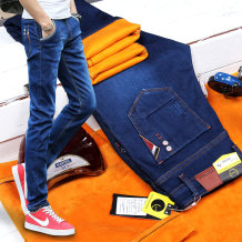 Jeans Youth fashion SNK / New Express Twenty-eight 803 black [Plush] + 817 blue [regular] Plush and thicken Micro bomb Plush denim JR2188 Cotton 77.8% polyester 21.2% polyurethane elastic fiber (spandex) 1% Winter 2017 Pure e-commerce (online only)