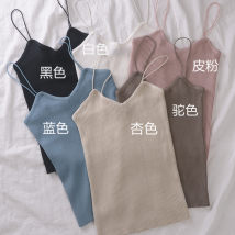 Vest sling Summer of 2018 Skin pink white blue black apricot Camel Average size singleton  routine Self cultivation commute camisole Solid color 18-24 years old 51% (inclusive) - 70% (inclusive) other four thousand and five Other / other