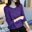 Wool knitwear Spring of 2018 SMLXL Off white purple green yellow black Long sleeves singleton  Socket Regular routine commute easy Low crew neck Socket