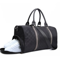 Travel bag oxford nothing Lai Hui CG print black large yes leisure time Single root Japan and South Korea Bag type polyester cotton Soft handle written words youth Zipper hidden bag mobile phone bag certificate bag sandwich zipper bag printing one thousand seven hundred and seven female
