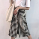 skirt Summer of 2018 S M L Picture color Mid length dress Retro High waist A-line skirt lattice Type A 18-24 years old 03263026 51% (inclusive) - 70% (inclusive) other Other / other polyester fiber