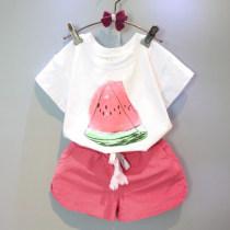 suit Other / other white 7(90cm) 9(100cm) 11(110cm) 13(120cm) 15(130cm) female summer Korean version Short sleeve + pants 2 pieces other F3018