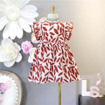 Dress F5062 ຮ້ອນ Other / other 7(100cm) 9(110cm) 11(120cm) 13(130cm) 15(140cm) Other 100% Graph color ຍິງ