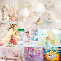 Background cloth 1.5 * 1.5 no mopping PP paper Plane painting