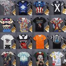 T-shirt Youth fashion routine S M L XL 2XL Jxqs / xingqiangsheng Short sleeve Crew neck Self cultivation daily summer teenagers routine like a breath of fresh air 2017 Cartoon animation printing 3D effect No iron treatment