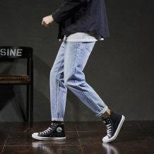 Jeans Fashion City Tonlion / Tang lion Thirty-four Light denim routine No bullet Regular denim Cotton 100% Autumn of 2018 Pure e-commerce (online only)