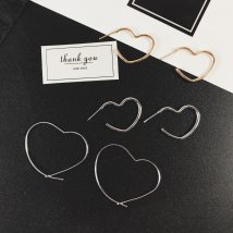 Earrings Alloy / silver / gold 10-19.99 yuan Other / other Little love - Gold little love - Silver big love - gold big love - Silver brand new female Japan and South Korea goods in stock Fresh out of the oven other other SP2511