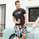 Men's swimsuit You you Black irregular M (90-110kg) l (110-130kg) XL (130-150kg) 2XL (150-170kg) 3XL (170-190kg) Five point swimming trunks eighty-seven thousand eight hundred and twenty-three Polyester others Spring of 2018 yes