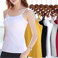 Vest sling Summer 2020 Cotton white, cotton black, cotton green, cotton rose red, cotton blue, cotton powder, cotton yellow, lace white, lace black, lace green, lace rose red, lace blue, lace pink, lace yellow L,XL singleton  routine Self cultivation Versatile camisole Solid color 25-29 years old