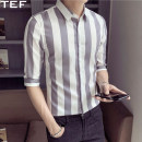 shirt Youth fashion TEF XXL Light grey Thin money TEF18NTW236 Cotton 95% polyurethane elastic fiber (spandex) 5% Summer of 2018