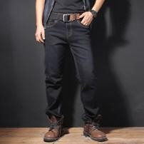 Jeans Youth fashion BORURZ Thirty grey routine Super high elasticity Regular denim 90231103-1 Cotton 97% polyurethane elastic fiber (spandex) 3%