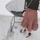 skirt Little dot skirt in stock 80cm 90cm 100cm 110cm 120cm 130cm 140cm Other / other female Cotton 90% other 10% summer skirt Korean version Dot Pleats Chiffon