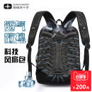 Backpack nylon Schwyz + cross / schweitz cross Brown Black brand new large zipper travel Double root Business / OL hard youth no Hard handle Yes male