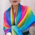 Scarf / silk scarf / Shawl Chiffon Spring and summer female Scarves / scarves sunshade Korean version rectangle Color matching 100cm 180cm 31% (inclusive) - 50% (inclusive) HJ-017