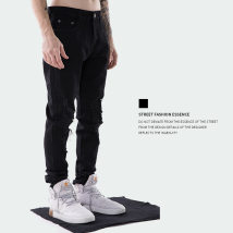 Jeans Youth fashion THE TXX XXL S M L XL black routine Micro bomb gzt006 trousers Other leisure spring teenagers middle-waisted American leisure 2018 zipper printing washing cotton
