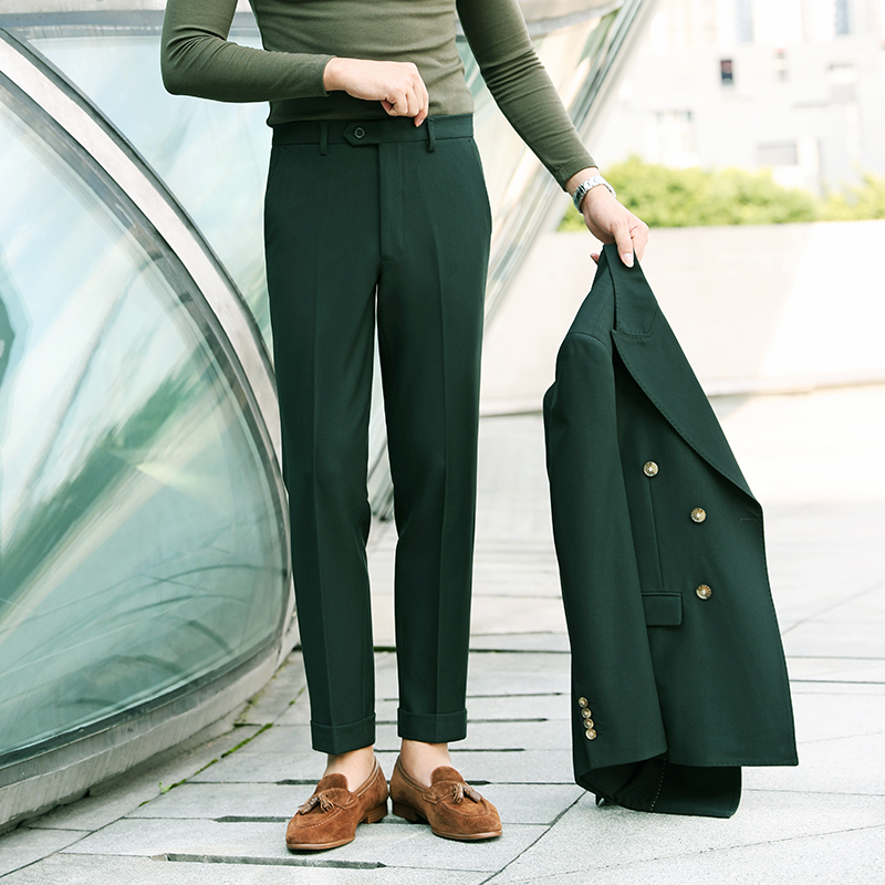 Casual pants Others Business gentleman Basic color (black, gray, white, etc.) 30 31 32 33 34 thick trousers Other leisure Straight cylinder Micro bomb