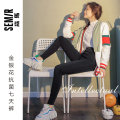 Jeans Winter 2020 Gray, black M (155-165cm85-125kg), l (160-170cm125-140kg), XL (165-175cm140-150kg) trousers Natural waist routine 18-24 years old