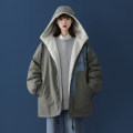 Cotton padded clothes Grey black green M L XL 2XL 3XL 4XL 5XL Winter 2020 Yiyi routine Long sleeves thickening zipper street Hood routine Straight cylinder letter KY2020100901 printing 18-24 years old Pure e-commerce (online only) Cotton 76% polyester 24% neutral