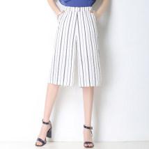 Casual pants White black M L XL 2XL 3XL 4XL Summer of 2018 Cropped Trousers Wide leg pants High waist commute Thin money other Korean version pocket
