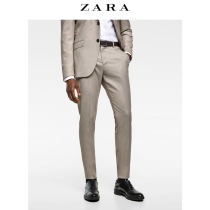 Western-style trousers ZARA Business gentleman Sand color 38 (190/96A) 01564421711-24 Polyester 70% viscose 28% polyurethane elastic 2% Summer of 2018 Same model in shopping mall (sold online and offline)