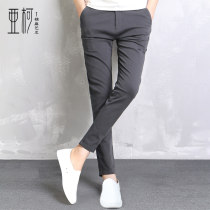 Casual pants Akko  Youth fashion Summer thin apricot Twenty-eight routine get shot six thousand eight hundred and fifty-eight Cotton 98% polyurethane elastic fiber (spandex) 2% plain cloth Autumn 2016 Pure e-commerce (online only)