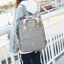 Backpack oxford Other / other Black pink large small black pink large small brand new large zipper campus Double root Japan and South Korea soft youth no Soft handle Solid color Yes female Water splashing prevention Vertical square Computer pocket polyester fiber Color contrast no 15 inches 32.40.13