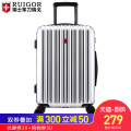 suitcase ABS+PC For men and women Regor White (Beige) - scratch resistant material Silver Blue 20 inch 24 inch 28 inch Yes yes brand new Solid color zipper Fashion trend youth polyester fiber Zipper hidden bag mobile phone bag certificate bag sandwich zipper bag RG000220017 no Universal wheel yes