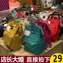 Backpack oxford MENG BELONG brand new in zipper leisure time Double root Japan and South Korea soft youth yes Soft handle Solid color nothing female