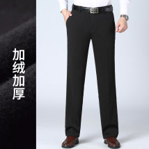 Casual pants Pincio zenie Business gentleman K9828-1 black 29 30 31 32 33 34 35 36 38 40 Plush and thicken trousers Other leisure easy Micro bomb K9828 winter middle age Business Casual 2020 Medium high waist Straight cylinder Polyester fiber 90% polyurethane elastic fiber (spandex) 10% Solid color