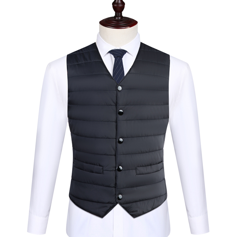 Vest / vest other Others Black, grey, red, navy L,XL,2XL,3XL,4XL,5XL Other leisure Self cultivation Cotton vest routine V-neck middle age 2019 Business Casual 021 Solid color Single breasted Cloth hem Rayon other Button decoration Mingji thread patch bag Silk like cotton