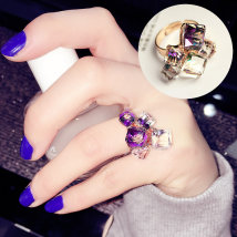 Ring / ring 10-19.99 element Japan and South Korea Alloy / silver plating / gilding Color solid crystal Other/ other Brand new