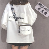 Bag Inclined shoulder bag PU other Van hee Collection Plus purchase preferred delivery this option is forbidden to shoot white, silver and black brand new Japan and South Korea Small leisure time soft zipper no Solid color Single root Straddle shoulder nothing youth other broadband polyester fiber