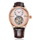 Wristwatch Hoffer  Shop warranty Mechanical movement male genuine leather domestic 3ATM Fine steel Synthetic sapphire watch mirror 13mm 42mm Rose Gold vermicelli face rose gold blue face fine steel blue face fine steel gray white face D1025BN1-1 circular fashion Pointer type brand new Pin buckle