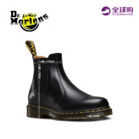 Boots 36 37 38 39 40 41 42 43 44 Wine red black top layer leather Dr.Martens Low heel (1-3cm) Slope heel top layer leather Short tube Round head Sleeve