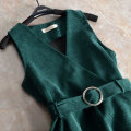 Vest Autumn 2020 Green, khaki, Navy S,2XL,L,M,XL have cash less than that is registered in the accounts V-neck commute Solid color Corduroy vest 25-29 years old Enchanting Ni 31% (inclusive) - 50% (inclusive) Lotus leaf edge
