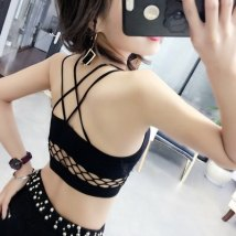 Bras Pink White Black Average size [80-125 Jin] Fixed shoulder strap No buckle Wireless  Full cup Vest style Ding Jinjin Young women Gather together
