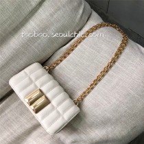 Bag The single shoulder bag PU Small square bag Other / other Black (about 5 days in advance) silver (about 5 days in advance) white brand new Small no