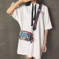 Bag The single shoulder bag PU Small square bag UTTUS Yellow red blue pink brand new Japan and South Korea in leisure time soft zipper yes Single root