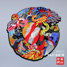 Cloth stickers Beauty and snake DIY Animal design