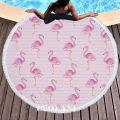 Bath towel / absorbent towel Pink Striped Flamingo pineapple Flamingo Bush Flamingo Hello green plant Roca Art