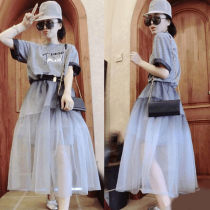 skirt Summer of 2018 S M L Grey skirt grey Mid length dress street High waist Princess Dress Solid color S182m05990p 31% (inclusive) - 50% (inclusive) other Saimeiyi other Europe and America