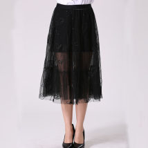 skirt Summer of 2018 XS S M L black Middle-skirt Type A M1GY1071060 other Hong Kong Europe Era