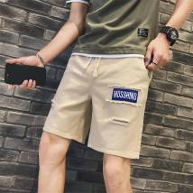 Casual pants Youth epidemic Basic color (black gray, etc.) Other /other SML XL 2XL 3XL conventional No bombs tourism Loose Shorts two thousand and eighteen tide summer teens Straight Washing Pocket decoration Beach Shorts Non-branded