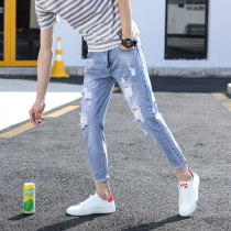 Jeans Youth fashion Morinka Twenty-eight 822 blue Thin money No bullet Thin denim eight hundred and eleven thousand eight hundred and seven Cotton 80.2% viscose 12.2% polyester 7.6% Summer of 2018 Pure e-commerce (online only)