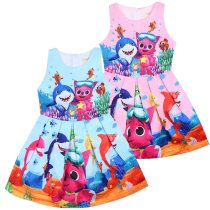 Dress Light blue pink Other / other female 90cm 100cm 110cm 120cm 130cm 140cm Polyester 65% other 35% spring and autumn Europe and America Cartoon animation five thousand three hundred and ten